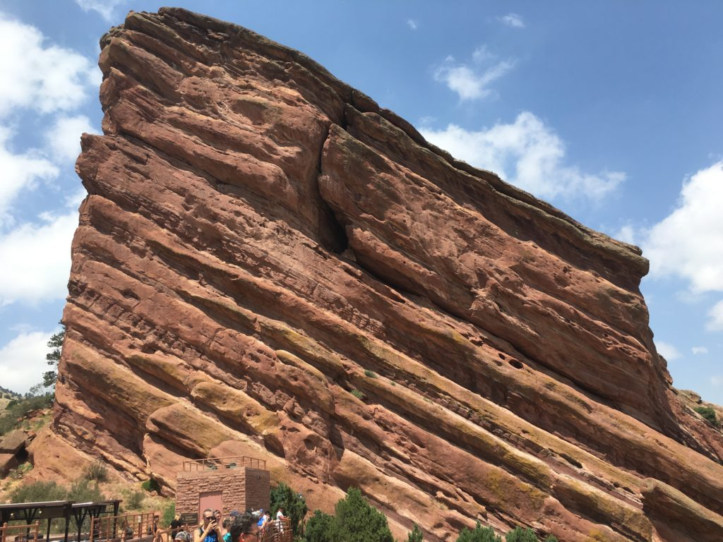 One of the red rocks at Red Rocks Ampitheater